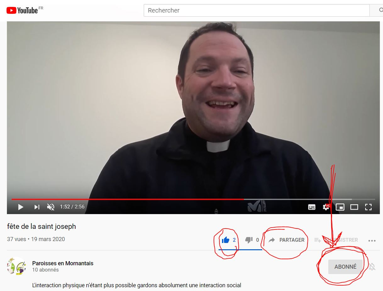 Le Père Charles Henri Et Le Père Pablo Ouvrent Une Chaîne YouTube Pour Garder Le Contact