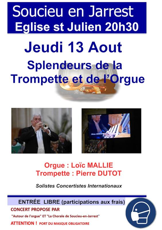 Concert Eglise Soucieu 13 A&out 2020 (orgue Et Trompette)
